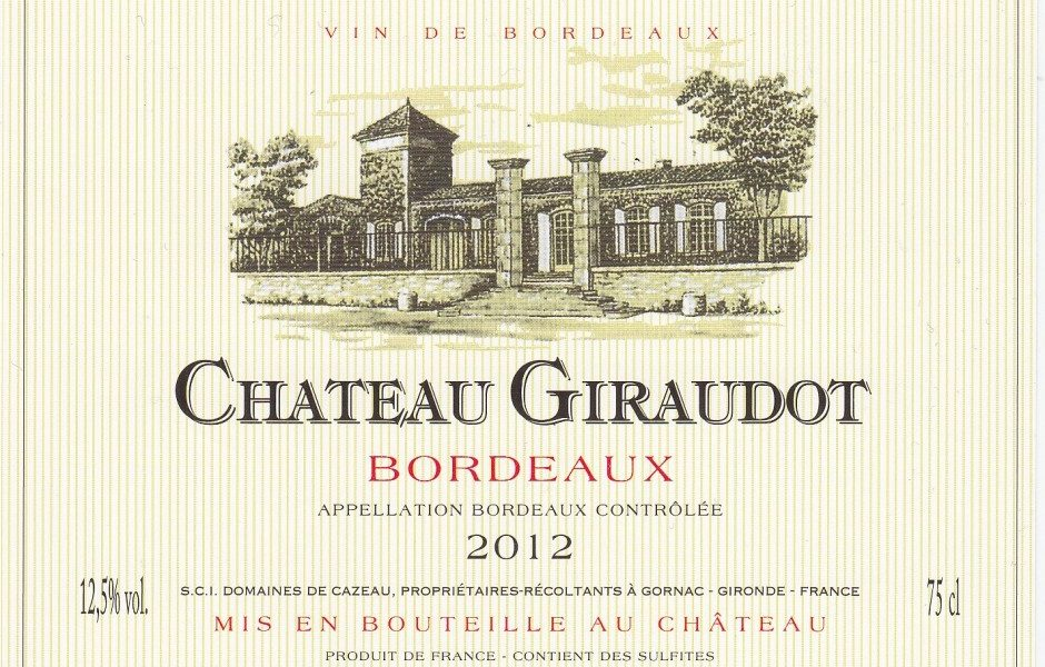 Chateau Giraudot wine bottle label