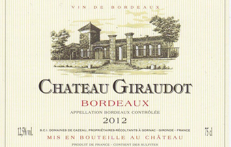 Chateau Giraudot wine bottle label